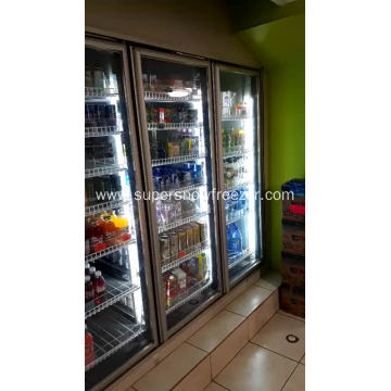 Walk in display cold storage room for dairy