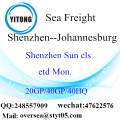 Shenzhen Port Sea Freight Shipping To Johannesburg