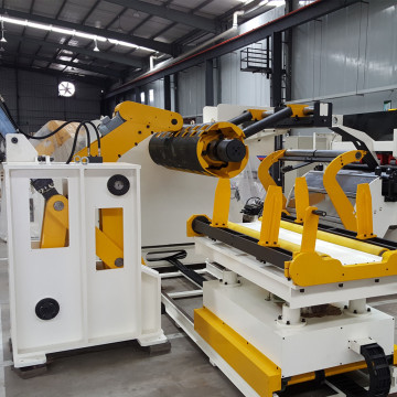 Decoiler straightener feeder for high tension material