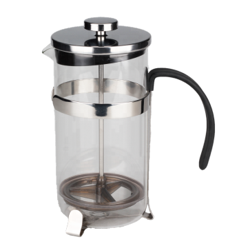 Glass Coffee Press With Stainless Steel Frame Base