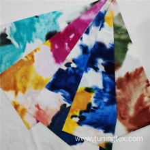 Tie Dye Four Way Spandex Print Fabric