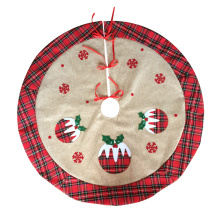 Christmas pudding tree skirt with scottish style
