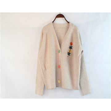 Custom Knitted Cardigan Sweater for Spring and Winter