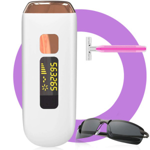 Hot sale portable 500000 Flashes Painless Permanent epilator laser ipl hair removal machine with razor and glasses