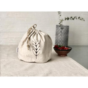 custom natural jute drawstring bag