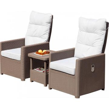Factory price adjustable sofa set rattan