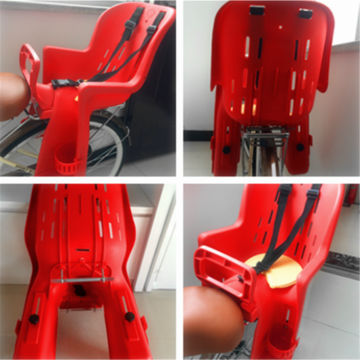 Plastic Large size baby safety seat for bicycle