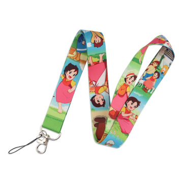 Heidi a Girl of the Alps Neck Strap Lanyard keychain Mobile Phone Strap ID Badge Holder Rope Key Chain Keyrings Accessories Gift