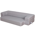Folding Bed Couch Light Gray Queen