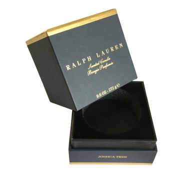 Black Custom Paper Candle Box Packing with Insert