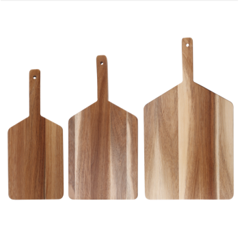 Paddle cutting board with handle