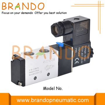 5/2Way 4V210-08 1/4'' Pneumatic Single Solenoid Air Valve
