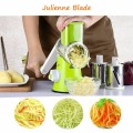 TTLIFE Mandoline Slicer Vegetable Chopper Potato Carrot Cutter Cheese Grater with 3 Round Stainless Steel Blades Kitchen Tools