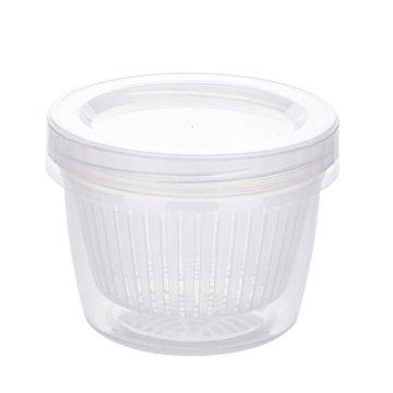 Onion Ginger Slices Garlic Storage Box Refrigerator Fruit And Vegetable Fresh-Keeping Box Kitchen With Lid Drain Storage Box