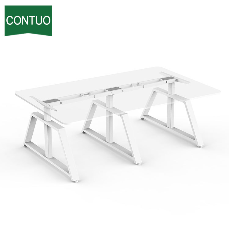 Height Adjustable Sit Standing Desk For Office Conference