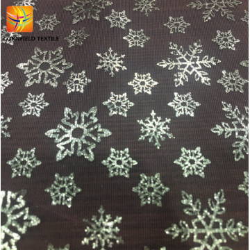 Nice snowflower pattern mesh fabric