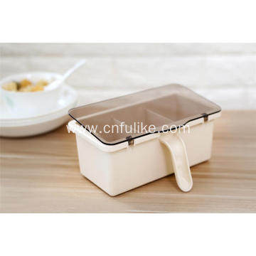 Portable Bamboo Fiber Condiment Container with Handle
