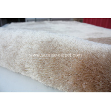 Polyester Area Rug With Long Pile