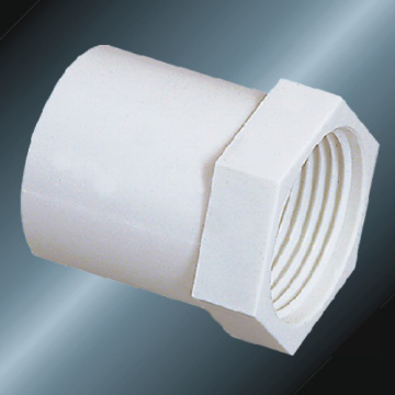 DIN PN10 Water Supply Upvc Female Adaptor White