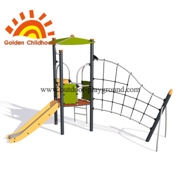 Climb and crawl playset climbing wall