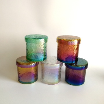 Hammered Luster Glass Jar Candle