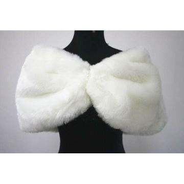 Wedding Shawl Winter Party Jacket White/Ivory Coat Faux Fur Shawls Bridal Bolero Wrap Cape Stole