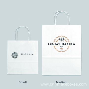 Custom Kraft Paper Bags Brown/White