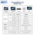 OSCOO 512GB m.2 NVMe SSD Hard Drives For MacBook Air A1369 A1465 A1466, 256GB Disk Mac Pro Retina A1398 A1502, iMac A1418 A1419