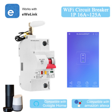 EWeLink WiFi 1P Smart Circuit Breaker for Smart Home MCB Overload Short Circuit Protection Work with Amazon Alexa Google Home