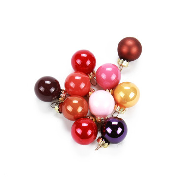 2.5cm Mini Christmas Glass Ball Multicolor Christmas Decor Tree Balls