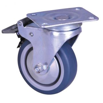 2-inch plate mounted TPE wheel caster