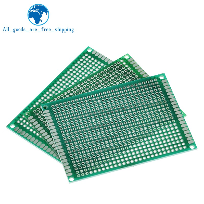 5PCS 6*8 6X8cm Double Side Prototype pcb Breadboard Universal Printed Circuit Board for Arduino 1.6mm 2.54mm Glass Fiber