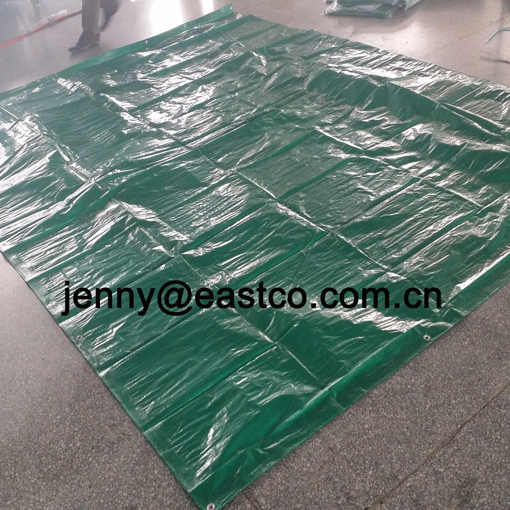 UV Green Ready Made Tarpaulin Sheet with Grommet