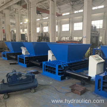 Horizontal scrap metal aluminum can baler machine