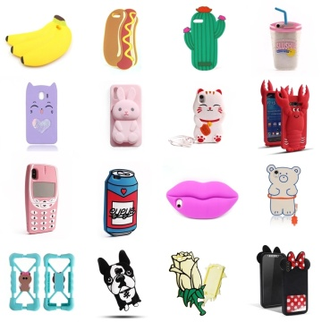 Custom 3D Cartoon Silicone Mobile Phone Case