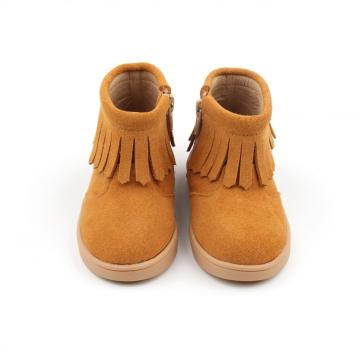 New Arrival Leather Boot Child TPR Sole Boot