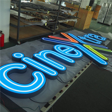 Metal Light Up Letters Raised Lettering
