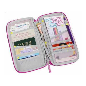 Logotipo personalizado Travel Wallet Passport Travel Wallet Holder