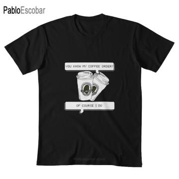 Coffee order T shirt klaine lima bean kurt hummel blaine anderson glee warblers