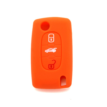 Peugeot 3 buttons car silicon key case