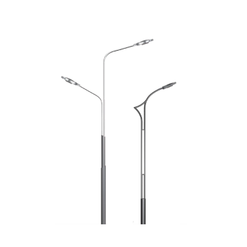 Galvanized pole for LED street lamp