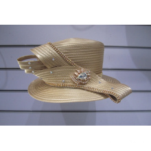 Ladies' Satin Ribbon Church Dress Couture Hats