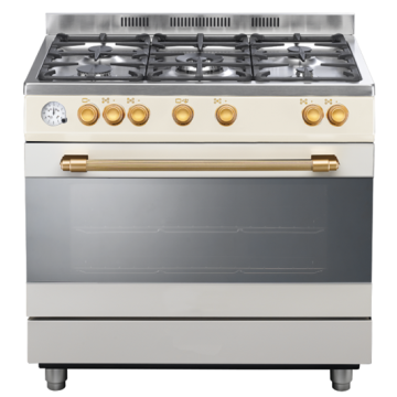 Gas Cooker with Gas Ovens 90 cm