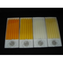 Box of 6 Colored Decorative Dinner Candle