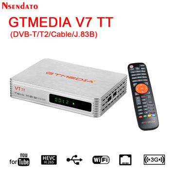 GTMEDIA V7 TT Satellite TV Receiver Full H.265 DVB-T/T2/Cable Digital Wifi tv box Receiver for YouTube USB Wifi Set top TV Box