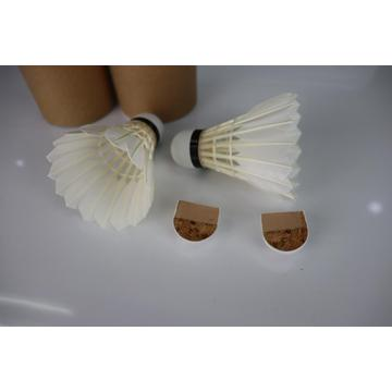 Goose Feather Badminton Shuttlecock with Natural Cork