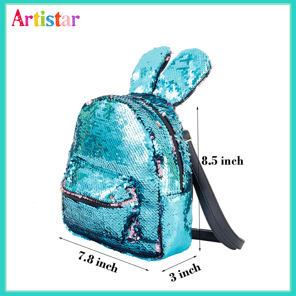 Rabbit Sequin Backpack 12 1 3