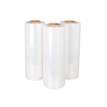 Printed stretch film clear