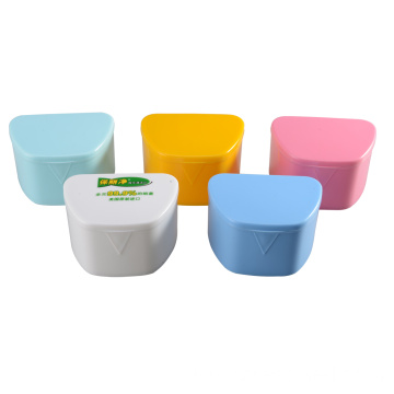 Plastic Colourful Denture Box Medical grade