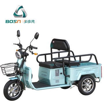 Elderly electric tricycle with small cargo box
